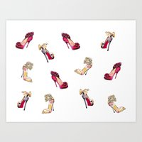 It's All About The Shoes… Art Print