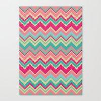 Aztec Chevron Pattern- P… Canvas Print