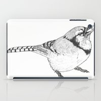 Black and White Blue Jay iPad Case