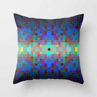 Momo pixel Throw Pillow