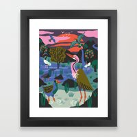 Bird Reserve Framed Art Print