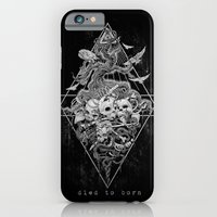 iPhone Cases featuring Died to born by Spezzoni Diego