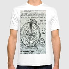 Old Times Mens Fitted Tee SMALL White