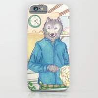 iPhone & iPod Case featuring Everyday Animals - Mr Wolf washes the dishes by Aiko Tagawa