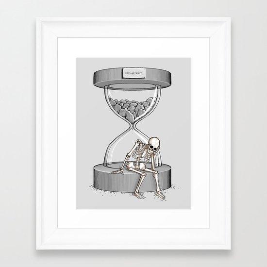 Please wait Framed Art Print