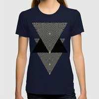 Full Om Womens Fitted Tee Navy SMALL