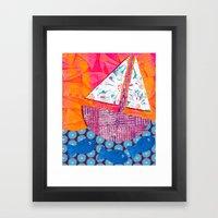 Sailing the Sea Framed Art Print