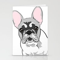 Jersey The French Bulldo… Stationery Cards