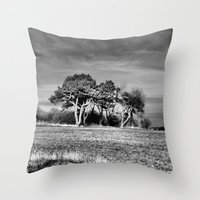3 Trees Throw Pillow