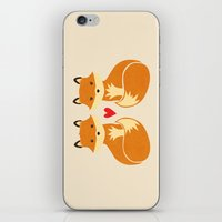 Love Foxes iPhone & iPod Skin