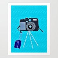 Camera On A Photographic… Art Print