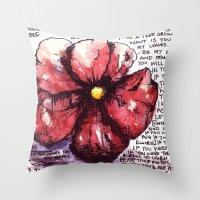 Juno Flower Throw Pillow