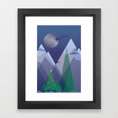 Christmas Night Alpine Flight Framed Art Print