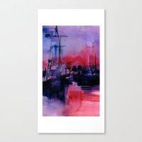 BOSTON 4 - RED Canvas Print