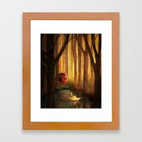 Forest Encounter Framed Art Print