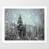 snow Art Prints featuring Snow by Pure Nature Photos