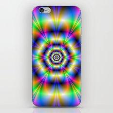 Neon Hexagons iPhone & iPod Skin