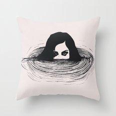 BLACK WATER Throw Pillow
