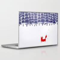 red Laptop & iPad Skins featuring Alone in the forest by Robert Farkas