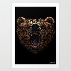 Floral Bear Art Print
