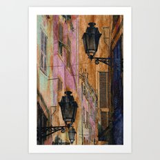 Night street Art Print