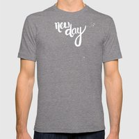 NEW DAY Mens Fitted Tee Tri-Grey SMALL