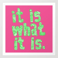 what it is pink square Art Print