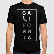 California Mens Fitted Tee Black SMALL