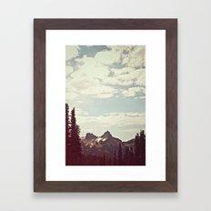 Vintage Mountain Ridge Framed Art Print