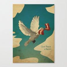 Give Peace a Bacon Canvas Print
