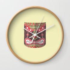 The Polynesian Mask Wall Clock