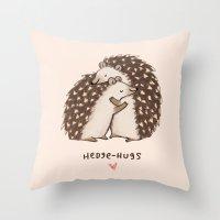 Hedge-hugs Throw Pillow