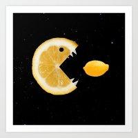 Lemon eats lemon Art Print