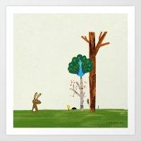 Hare Receives A Visit Fr… Art Print