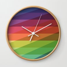 Fig. 040 Rainbow Stripes Wall Clock
