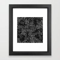Tree Repeat Black Framed Art Print
