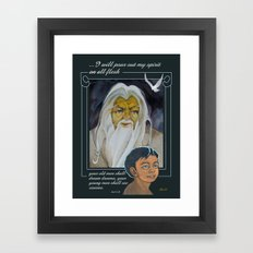 I Will Pour Out My Spirit Framed Art Print
