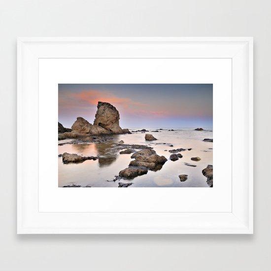 Volcanic coast Framed Art Print