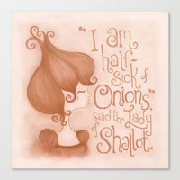 The Lady of Shallot Canvas Print