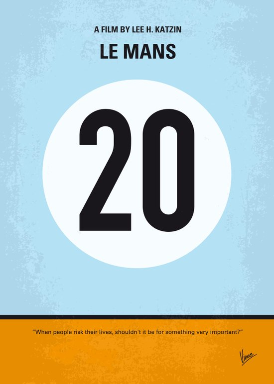 No038 My Le Mans minimal movie poster Canvas Print