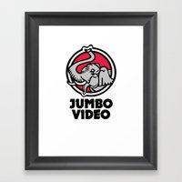 Jumbo Video Framed Art Print