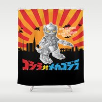 Lil' Mechagodzilla Shower Curtain