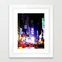 colors on pavement Framed Art Print