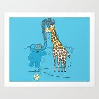 Snorkeling Buddies Art Print