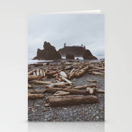 Ruby Beach Stationery Card