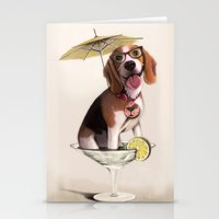Tessi the party Beagle Stationery Cards