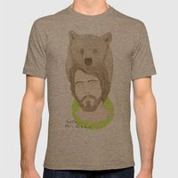 mr.bear-d Mens Fitted Tee Tri-Coffee SMALL
