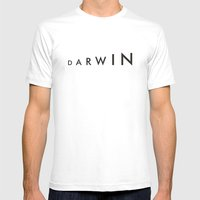 Darwin Mens Fitted Tee White SMALL