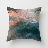 Fluidity #2 Throw Pillow