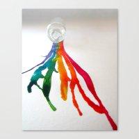 Rainbow Spill Canvas Print